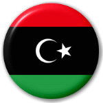 Libya Country Flag 58mm Button Badge.